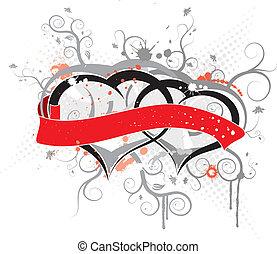 Valentines frame, vector