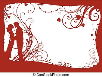 Valentines frame with couple