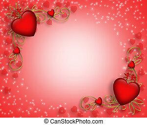 valentines, frontière, jour