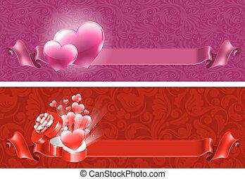 valentines, fundos, dia