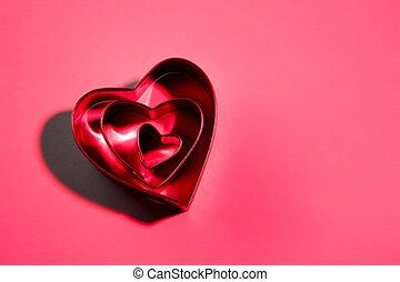 valentine\'s, galleta, día, cortadores