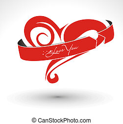 valentine\'s, giorno, scheda