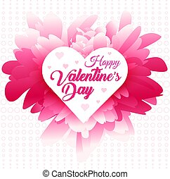 Valentines greeting, abstract pink background