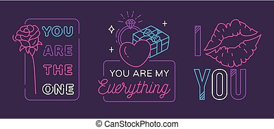 Valentines greeting badge