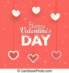 Valentines greeting card. Happy Valentines Day greeting card concept