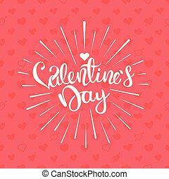 Valentines greeting card. Vector illustration