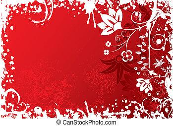 Valentines grunge background, vector - Valentines grunge...