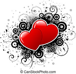 valentines, grunge