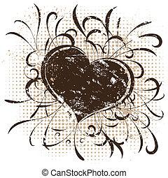 Grunge style Valentines background