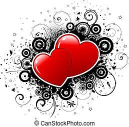 Valentines grunge