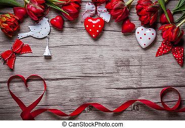 valentines, háttér, nap