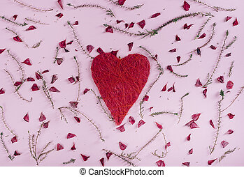 Valentine's Heart and flowers