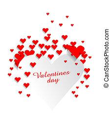 Valentines heart background