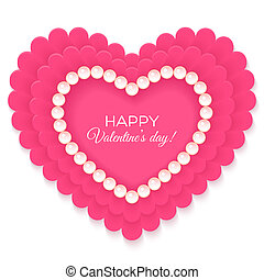 Valentines heart isolated on white background