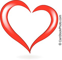 Valentines heart logo vector