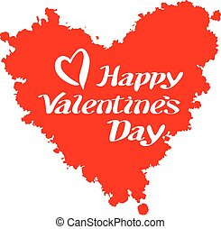 Valentines heart. Vector illustration. day lettering