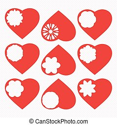 Valentines heart. Vector illustration.