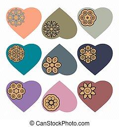 Valentines heart. Vector illustration.