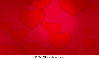 valentine's hearts background loop