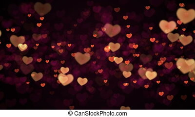 Valentines Hearts background. Looped.