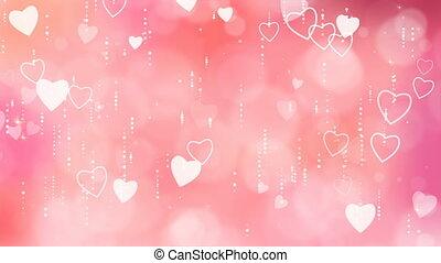 Valentine's Hearts Background.