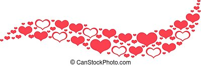 Valentines hearts line