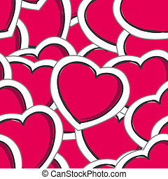 valentine`s hearts seamless background