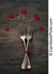 valentines, jantar