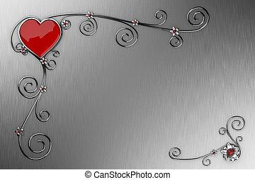 valentine?s, jour, carte