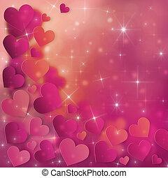 valentines, jour, carte