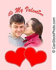 "valentine""s, jour, carte"