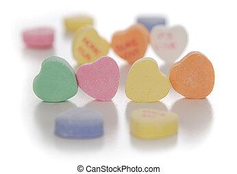 valentine\'s, jour, coeurs sucrerie