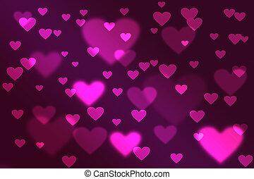 valentine\'s, jour, fond, bokeh