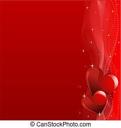 valentine\'s, jour, fond, rouges