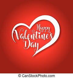 valentines, köszönés, ábra, vektor, nap, kártya, boldog
