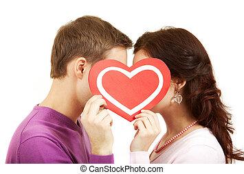 valentines, kussende