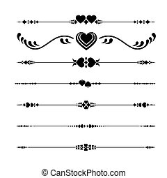 Valentine's Line ornaments