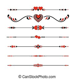Valentines Line ornaments