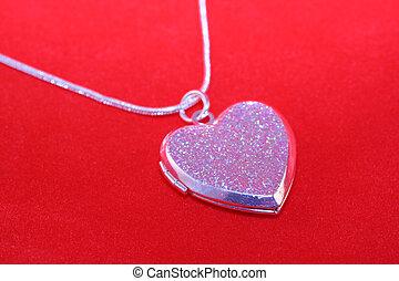 Valentines Locket - heart shaped pendant