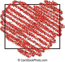 Valentine's love background with heart.