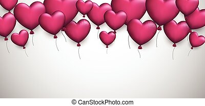 Valentine's love background with hearts.
