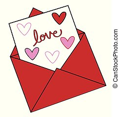 Valentines Love Hearts Letter