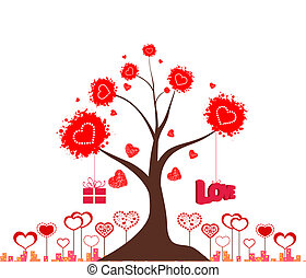 Valentines love tree