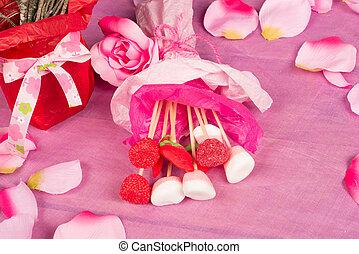 valentines nap, cukorka