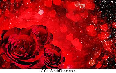 valentines nap, háttér, noha, agancsrózsák