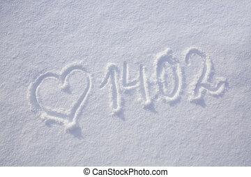 valentines nap, háttér, noha, heart.