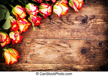 valentines nap, háttér, noha, roses.