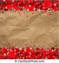 valentines nap, határ, kartonpapír, háttér