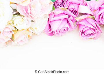 valentines nap, ibolya, agancsrózsák