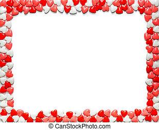 valentines nap, szív alakzat, cukorka, határ